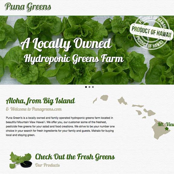 Puna Greens Responsive web site