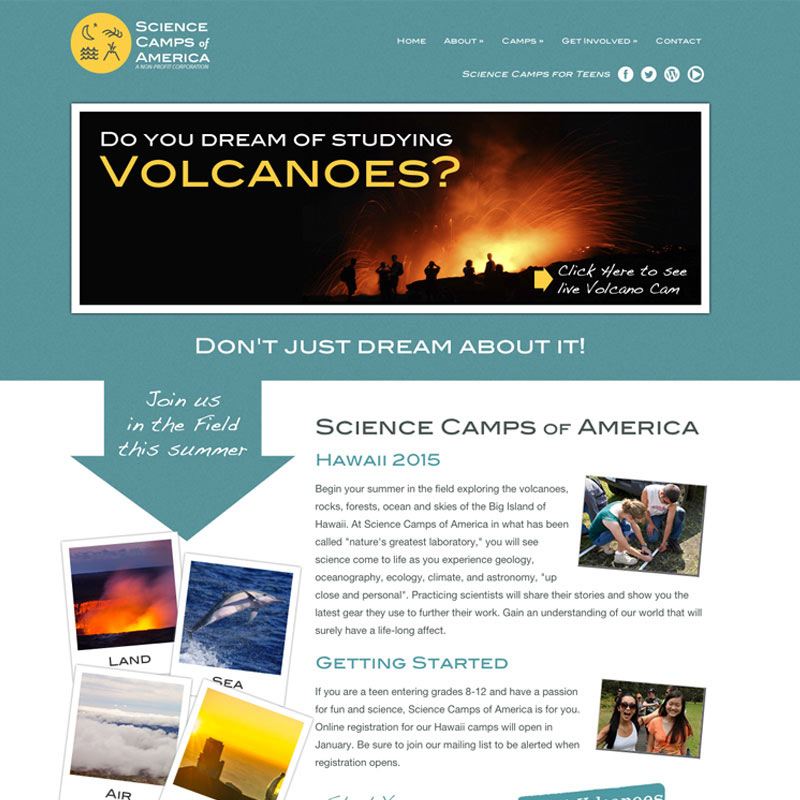 Science Camps of America Responsive Web Site Design